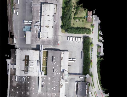Orthofoto und hochauflösendes Luftbild 14ha Logistikzentrum
