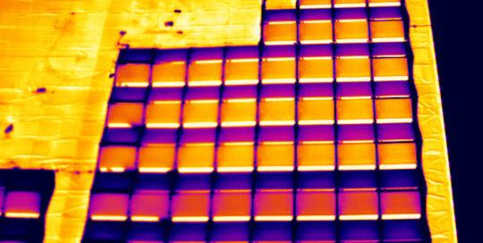 Luftbild - Thermographie Photovoltaik