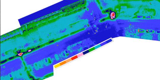 Georefernzierte Inspektion Fernwermäleitungen eine großen Energieversorgers